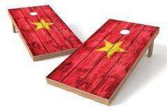 Image: Vietnam Flag Single Cornhole Board-Vintage | Proline Tailgating