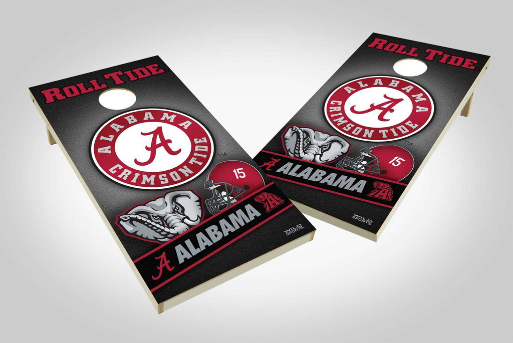 Image: Alabama Crimson Tide 2x4 Cornhole Board Set - Wild | Proline Tailgating