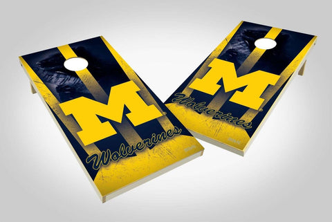 Image: Michigan Wolverines 2x4 Cornhole Board Set - Wild | Proline Tailgating