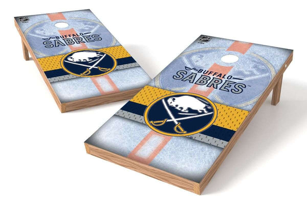 Image: Buffalo Sabres Cornhole Board Set - Wild (w/Bluetooth Speakers) | Proline Tailgating