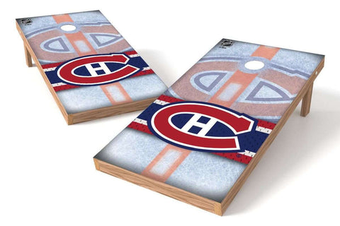 Image: Montreal Canadiens Cornhole Board Set - Wild (w/Bluetooth Speakers) | Proline Tailgating