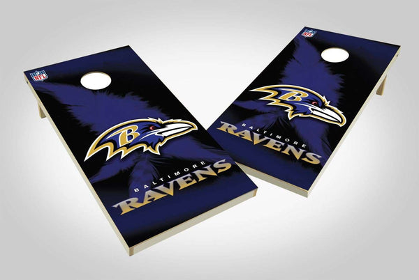 Image: Baltimore Ravens 2x4 Cornhole Board Set - Wild | Proline Tailgating