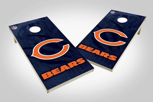 Image: Chicago Bears 2x4 Cornhole Board Set - Wild | Proline Tailgating