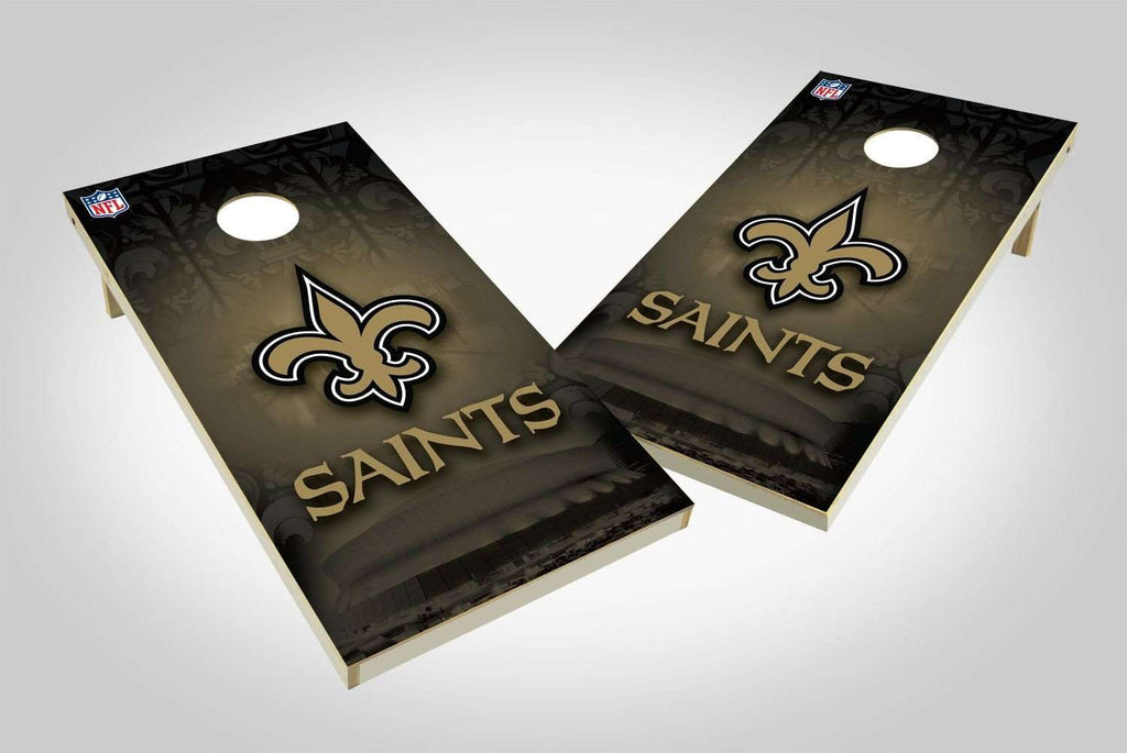 Image: New Orleans Saints 2x4 Cornhole Board Set - Wild | Proline Tailgating