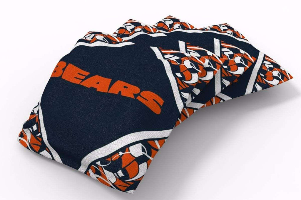 Image: Chicago Bears Millennial Diamond Bean Bags-4pk (B) | Proline Tailgating