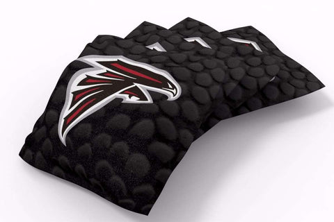 Image: Atlanta Falcons Pigskin Design Bean Bags-4pk (A) | Proline Tailgating