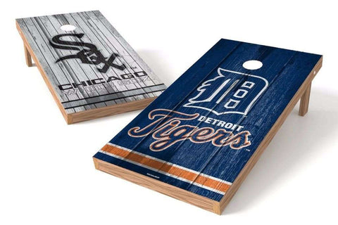 Image: Detroit Tigers/ Chicago White Sox Rivals 2x4 Cornhole Board Set | Proline Tailgating