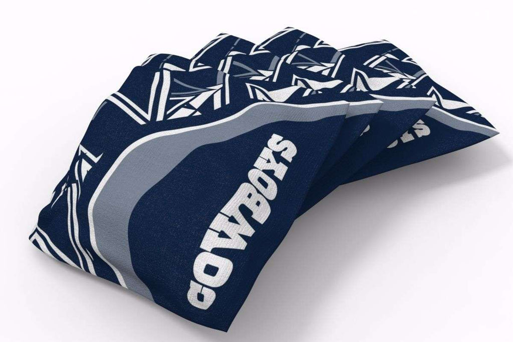 Image: Dallas Cowboys Millennial S Bend Bean Bags-4pk (A) | Proline Tailgating