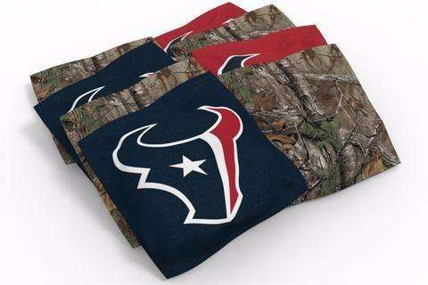 Image: Houston Texans 2x4 Cornhole Board Set - Realtree Max-5<sup>®</sup> Camo | Proline Tailgating