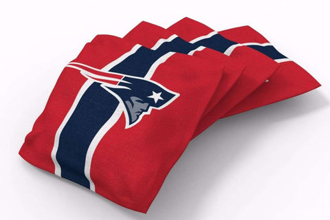 Image: New England Patriots Stripe Bean Bags-4pk (B) | Proline Tailgating