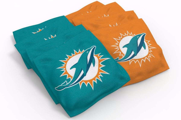 Image: Miami Dolphins 2x4 Cornhole Board Set - Realtree Xtra<sup>®</sup> Camo | Proline Tailgating