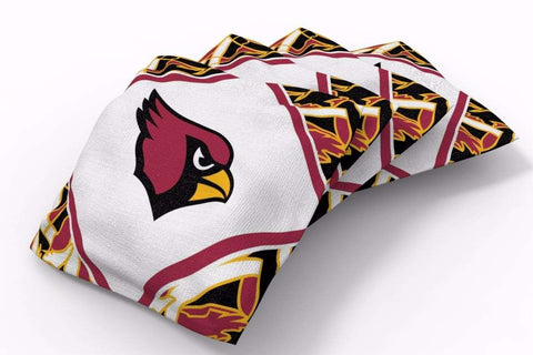 Image: Arizona Cardinals Millennial Diamond Bean Bags-4pk (A) | Proline Tailgating