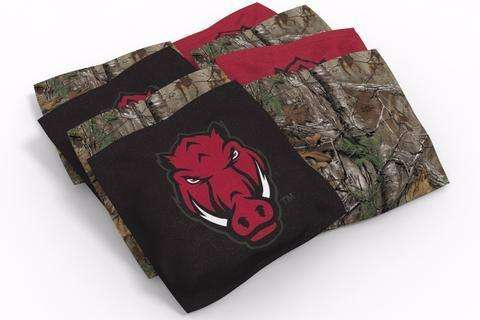 Image: Arkansas Razorbacks 2x4 Cornhole Board Set - Wild | Proline Tailgating