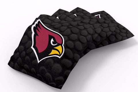 Image: Arizona Cardinals Pigskin Design Bean Bags-4pk (A) | Proline Tailgating