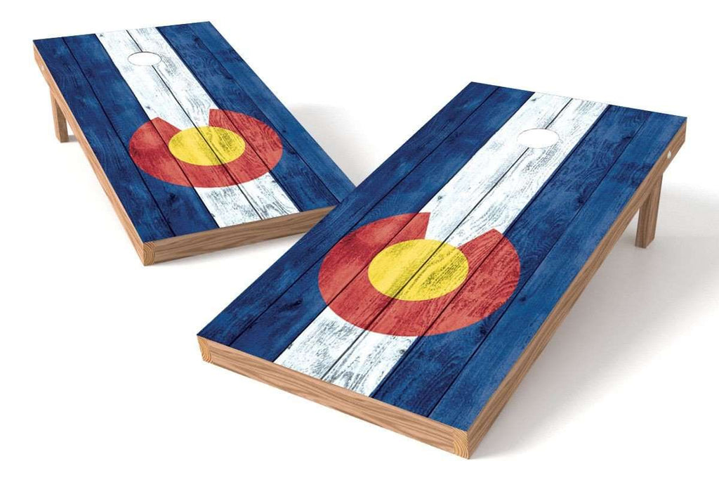 Image: Colorado State Flag Cornhole Board Set-Vintage | Proline Tailgating