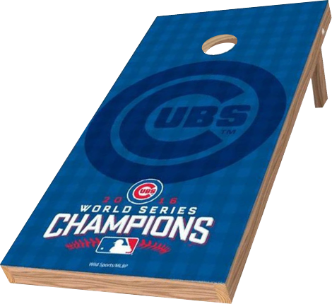 Image: Chicago Cubs 2x4 Cornhole Board Set - Champions (w/Bluetooth Speakers) | Proline Tailgating