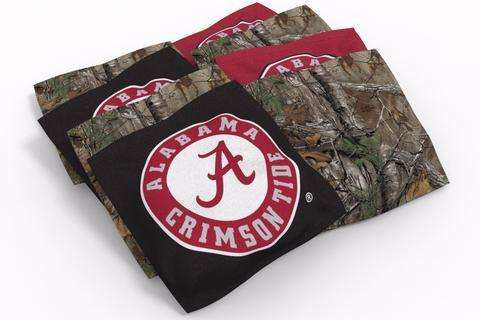 Image: Alabama Crimson Tide Cornhole Board Set - Hot (w/Bluetooth Speakers) | Proline Tailgating