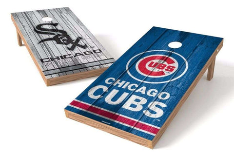 Image: Chicago Cubs/ Chicago White Sox Rivals 2x4 Cornhole Board Set | Proline Tailgating