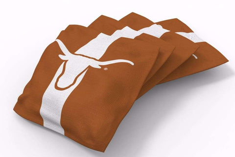 Image: Texas Longhorns Stripe Bean Bags-4pk (A) | Proline Tailgating