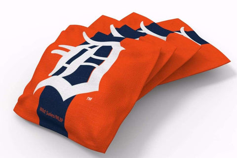 Image: Detroit Tigers Stripe Bean Bags-4pk (B) | Proline Tailgating