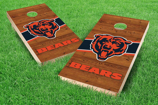 Image: Chicago Bears 2x4 Cornhole Board Set - Logo | Proline Tailgating