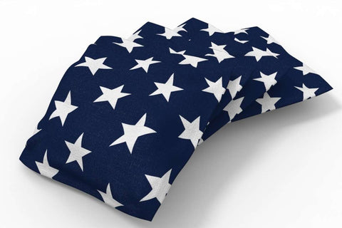Image: Stars & Stripes Patriotic Bean Bags-4pk (Stars) | Proline Tailgating