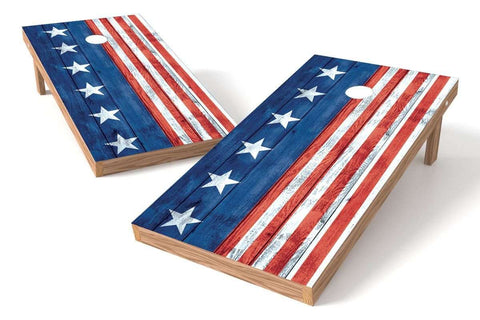 Image: USA Flag Cornhole Board Set-Vertical | Proline Tailgating