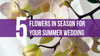 5 Flowers in Season for Your Summer Wedding