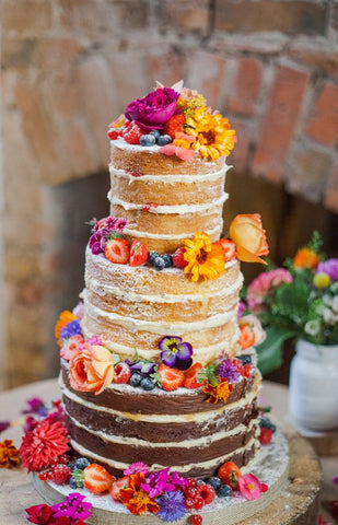 wedding trends naked cake