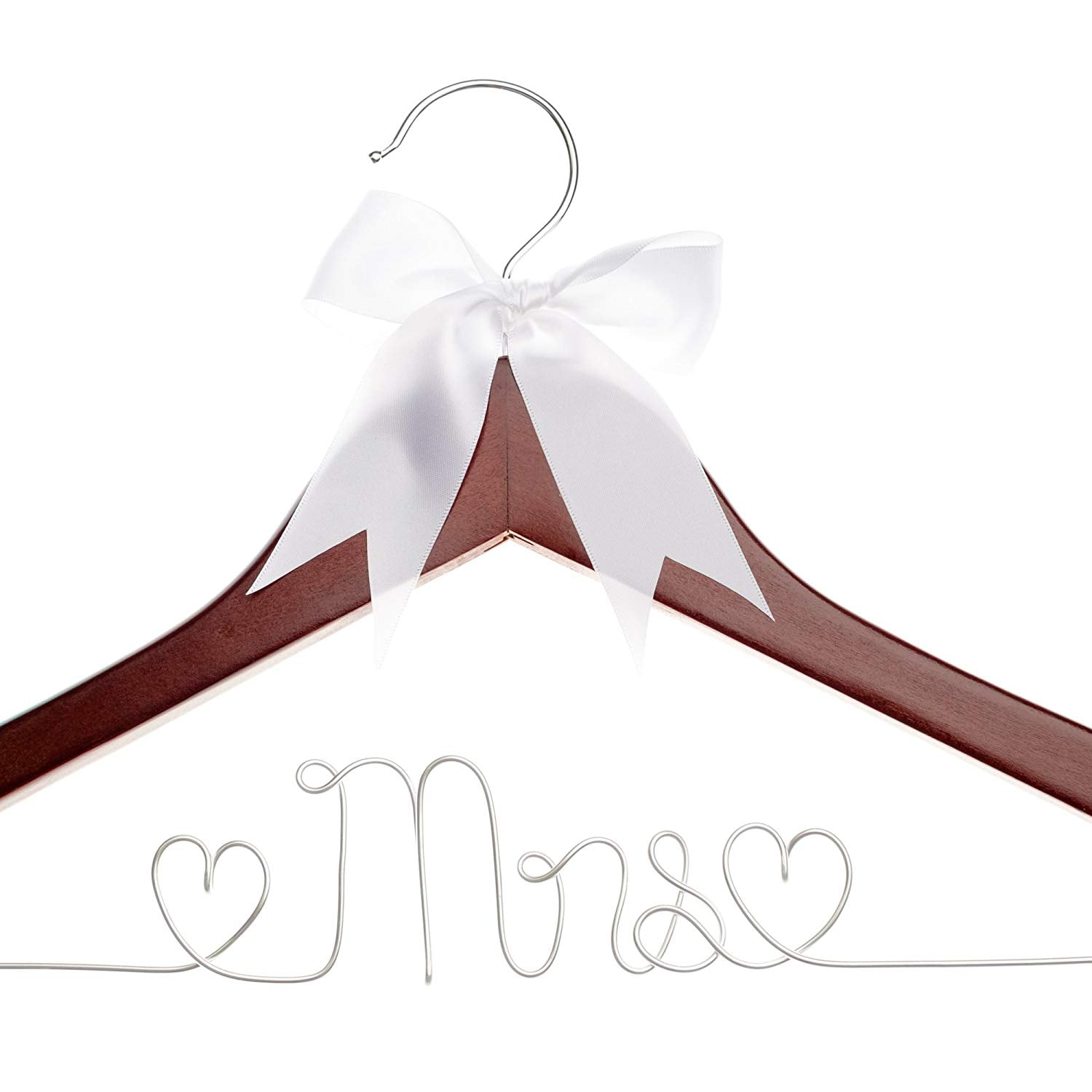 Mrs Wedding Dress Hanger (Mahogany)