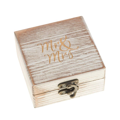Wood Ring Bearer Box - Antique White