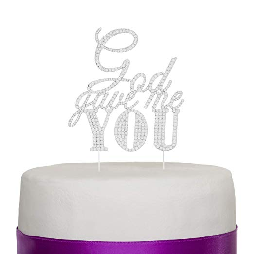 God Gave Me You Cake Topper - Silver