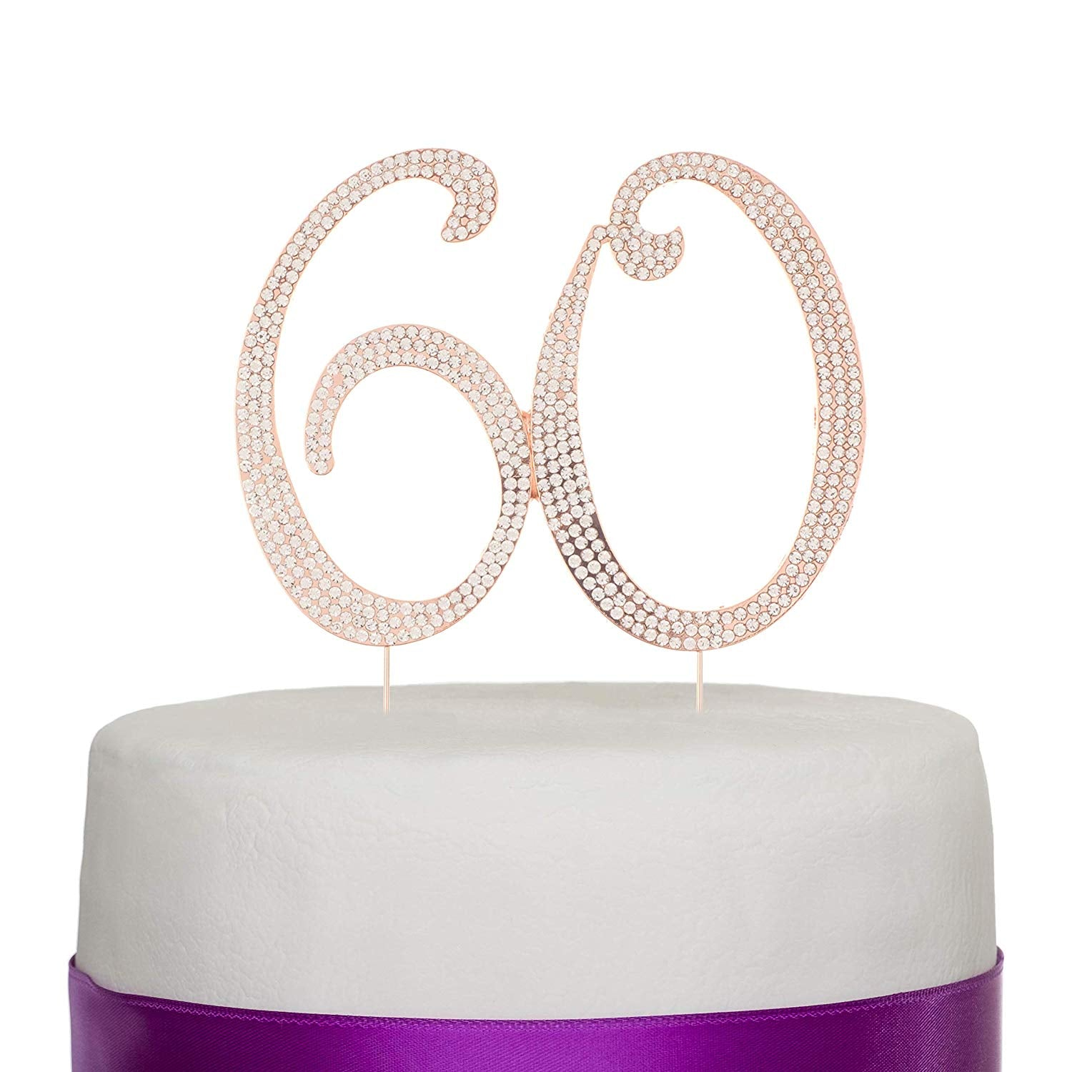 60 Cake Topper - Rose Gold