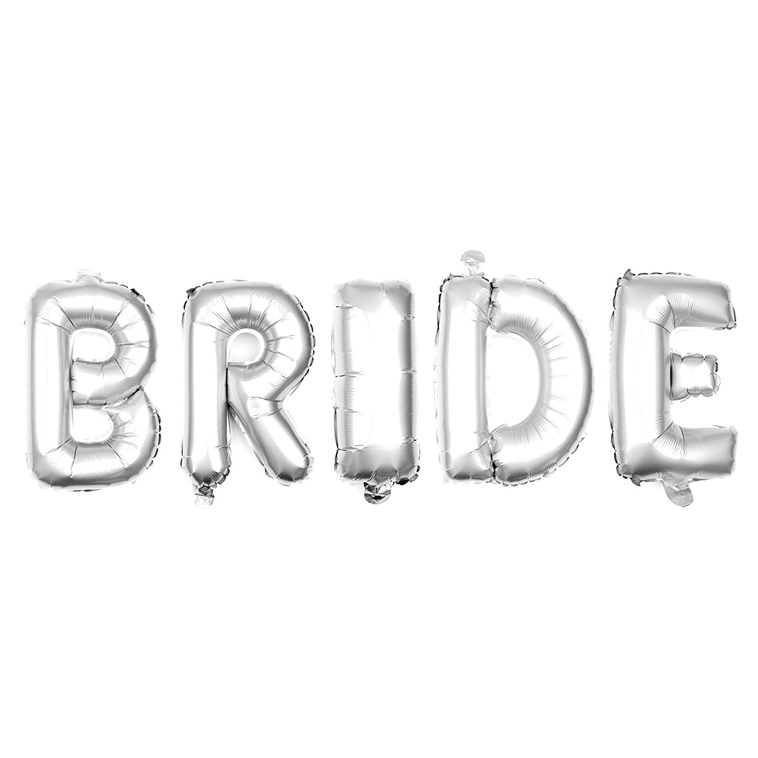 BRIDE Letter Balloons - 35 Inch Silver