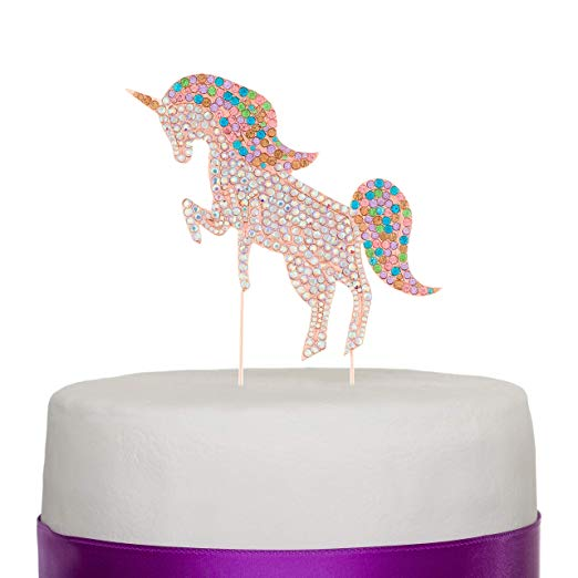 Unicorn Cake Topper - Rose Gold