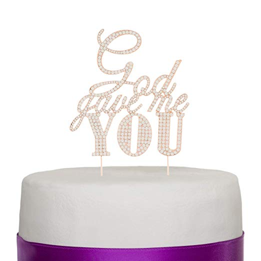 God Gave Me You Cake Topper - Rose Gold