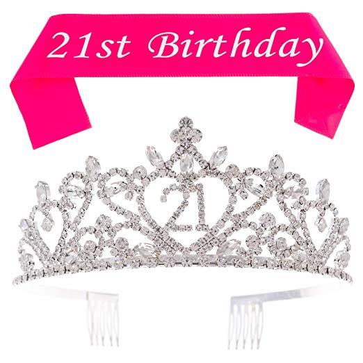 21 Tiara and Sash - Heart