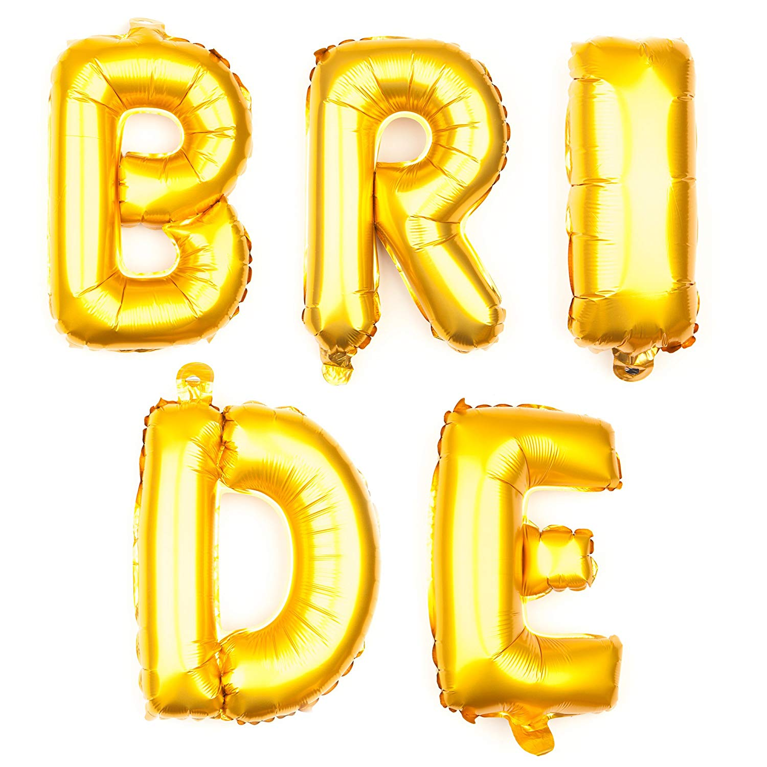 BRIDE Letter Balloons - 35 Inch Gold