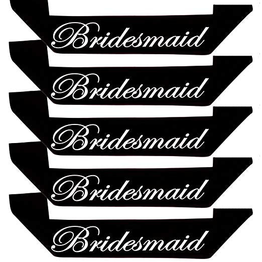 Bridesmaid Sash (Set of 5)