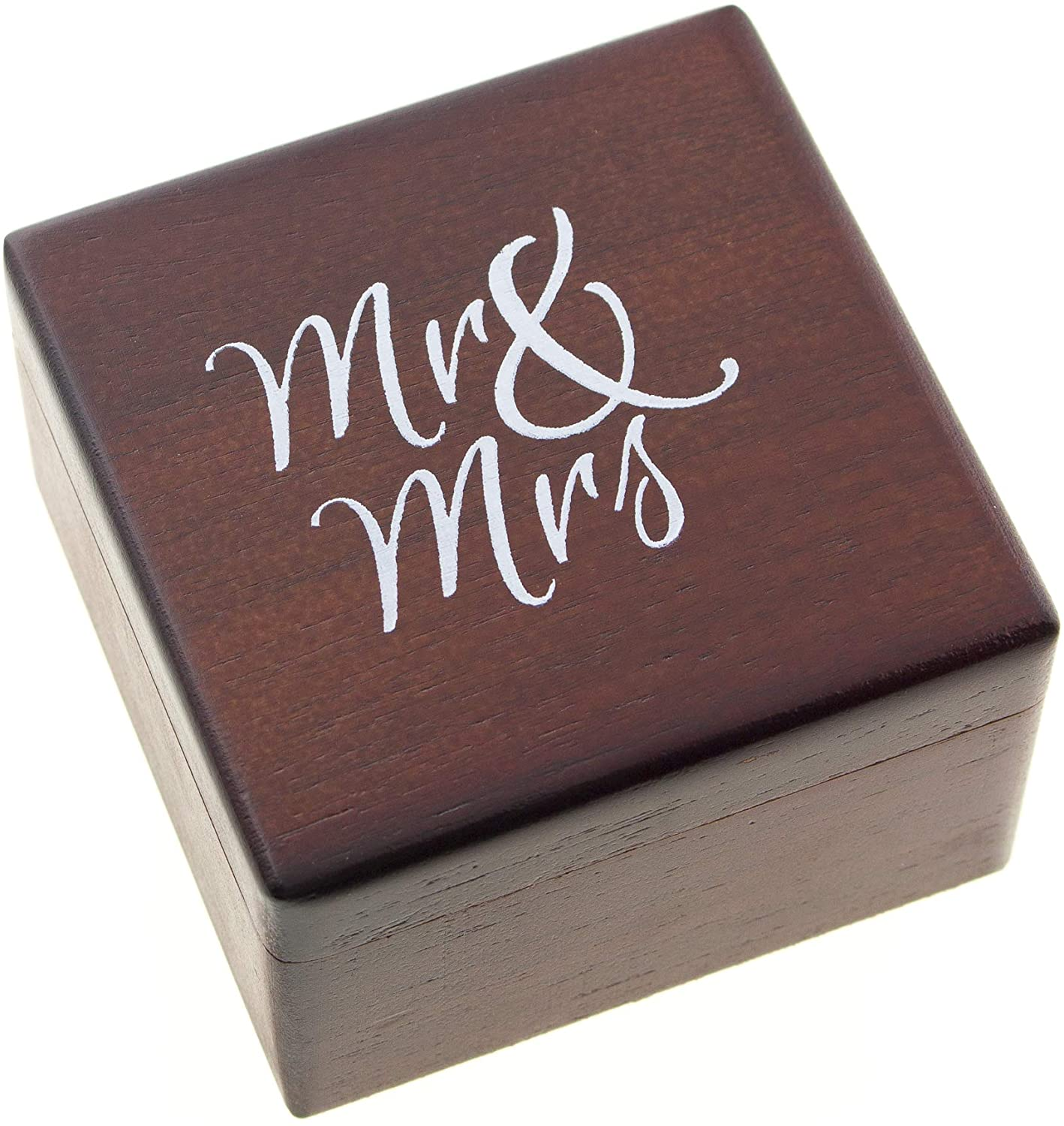 Mr & Mrs Ring Box - Mahogany