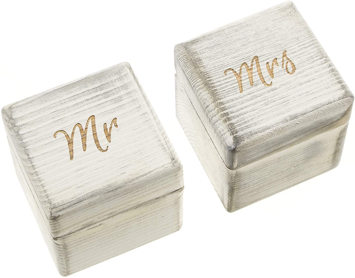 Mr & Mrs Ring Box Set - Antique White