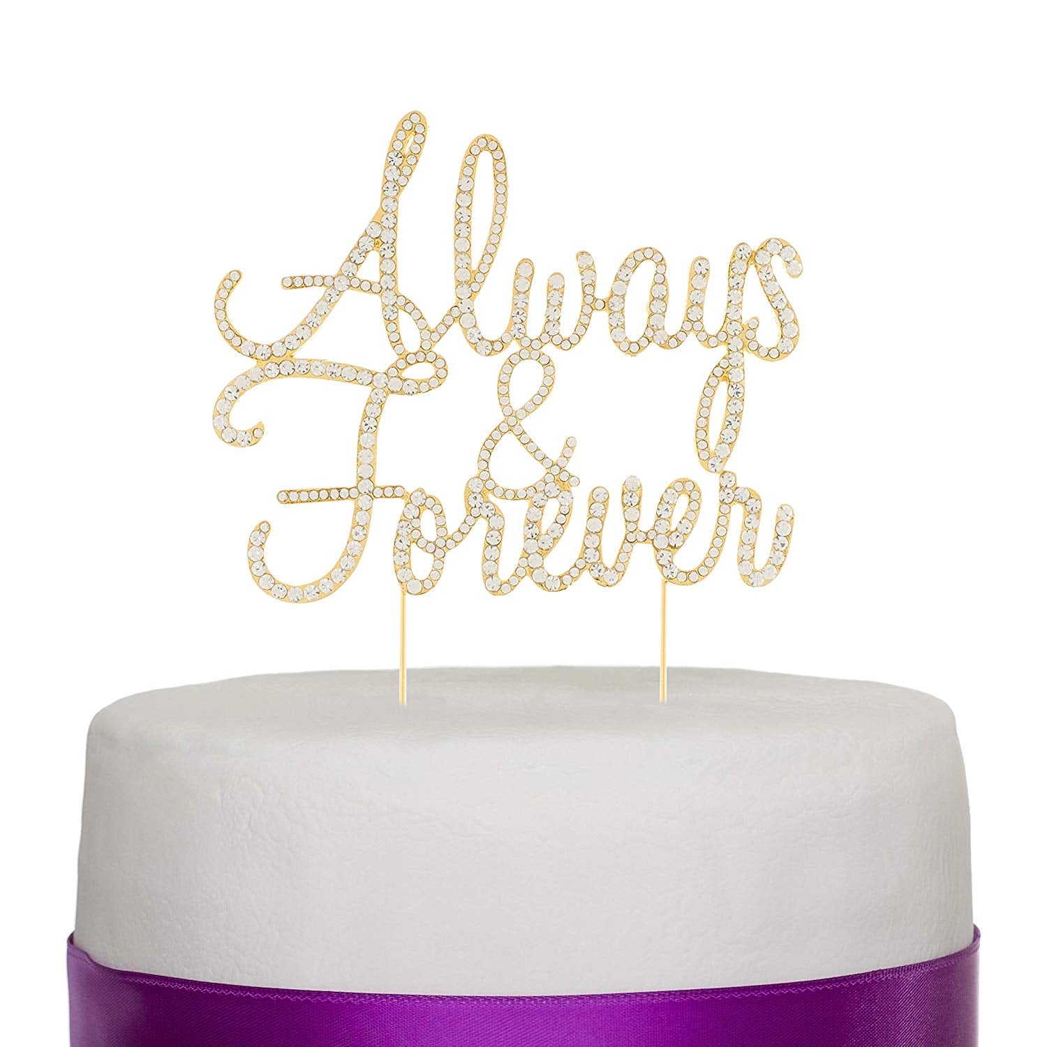 Always and Forever Cake Topper - Gold