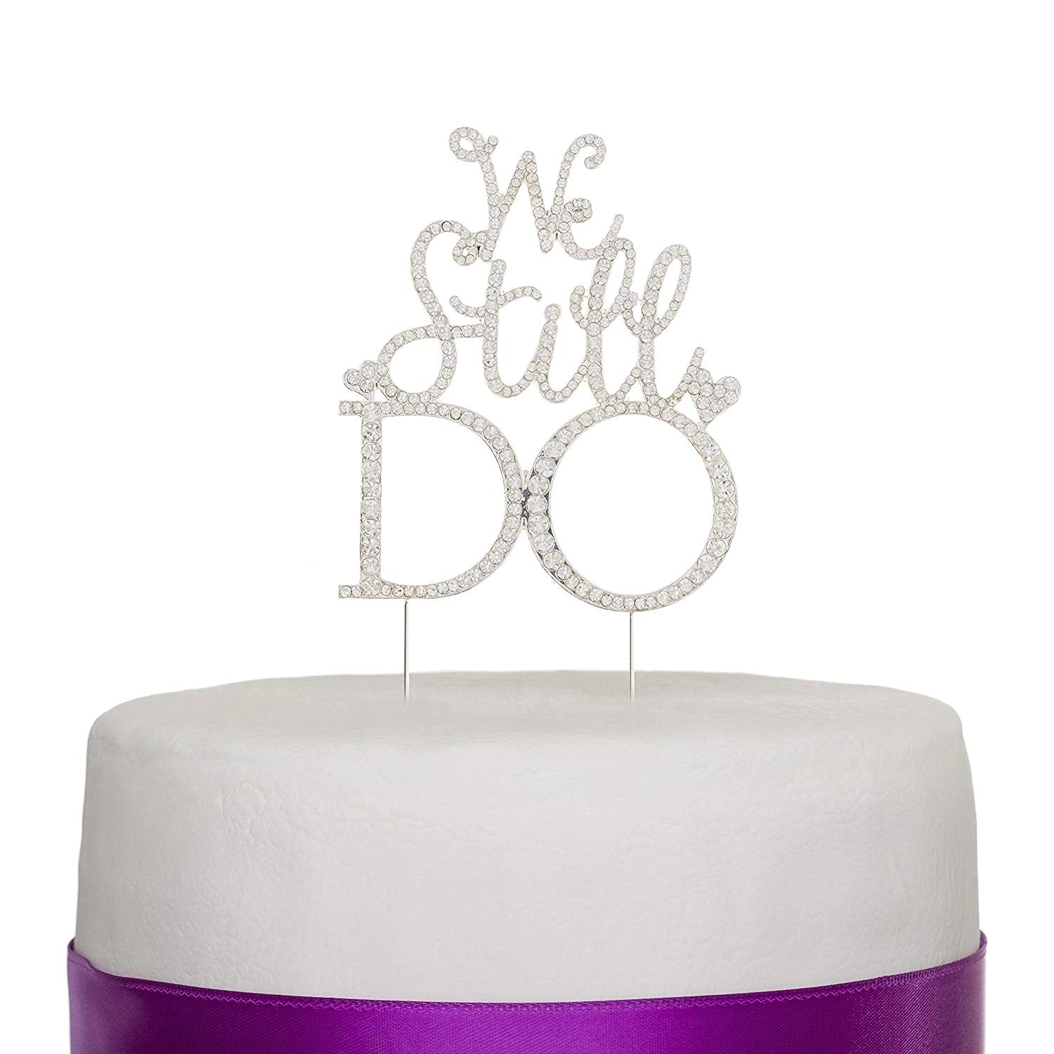We Still Do Anniversary Cake Topper - Silver