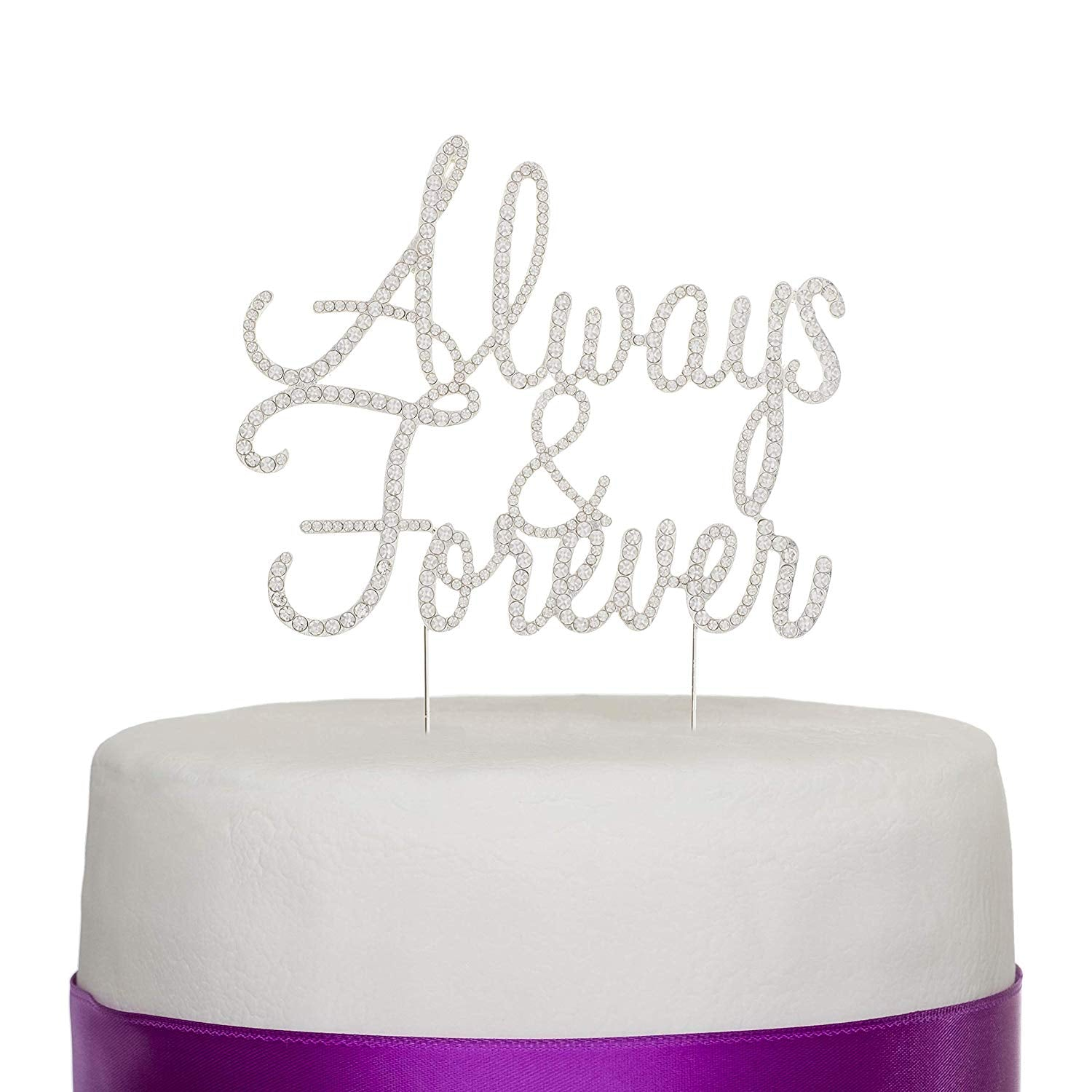 Always and Forever Cake Topper - Silver