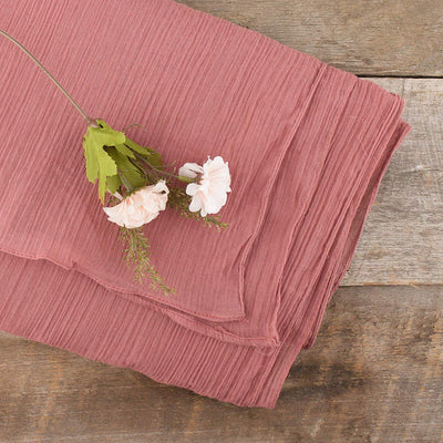 Crinkle Table Runner - Dusty Rose