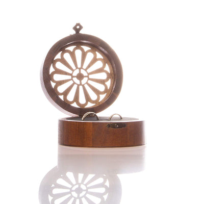 Wood Ring Bearer Box - Round
