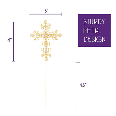 Cross Cake Topper - Gold