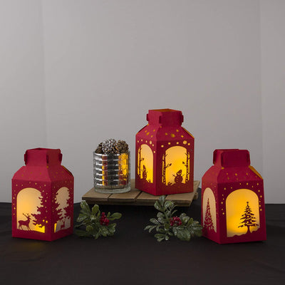 Red Paper Lanterns - Christmas