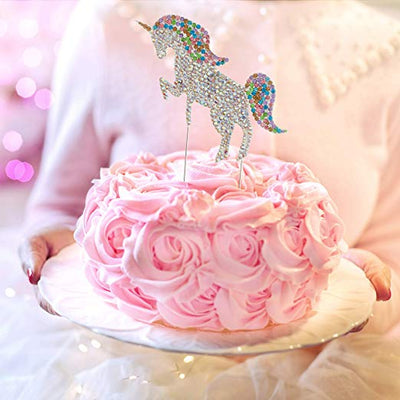 Unicorn Cake Topper - Silver