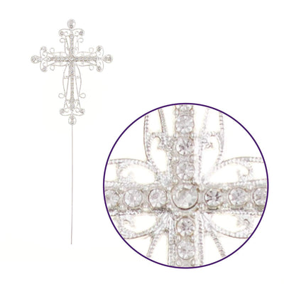 Cross Cake Topper - Silver